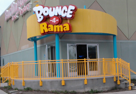 Bounce-a-Rama in San Jose. The bounce houses are totally killer and one of the best values for your buck anywhere. However, the redemption games will bleed you dry.