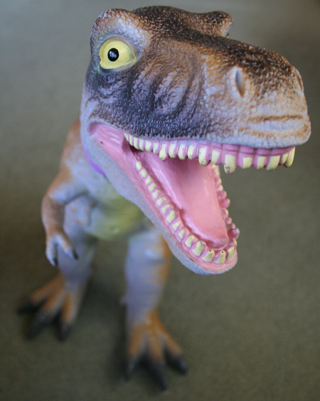 rubber t rex toy
