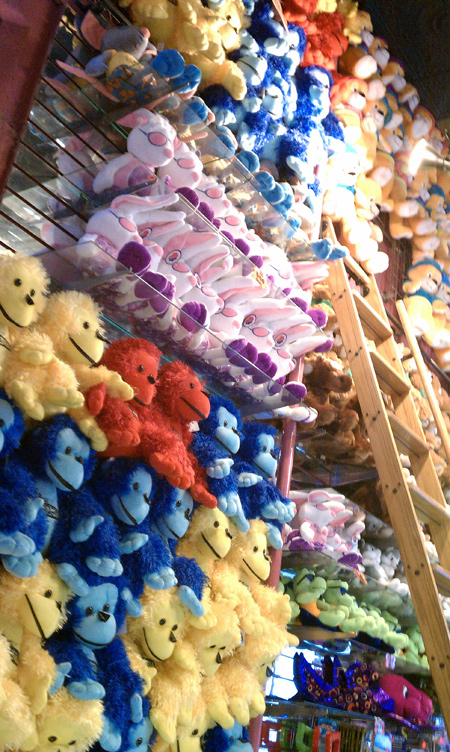 prize wall santa cruz boardwalk arcade