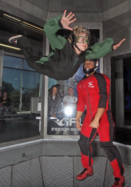 ifly wind tunnel indoor skydiving in San Francisco
